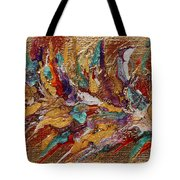 Exotic Flower Abstract Painting Tote Bag