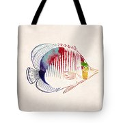 Exotic Tropical Fish Drawing Tote Bag