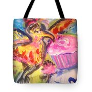 Exotica With Feline Friend  Tote Bag