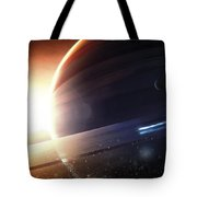 Expedition To A Saturn-like Planet Tote Bag
