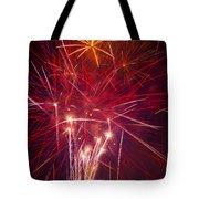 Exploding Fireworks Tote Bag