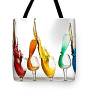 Exploding Glasses Of Paint 1 Tote Bag