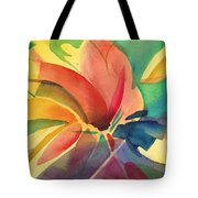 Exploding Lily Tote Bag