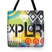 Explore- Contemporary Abstract Art Tote Bag
