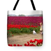Exploring The Tulip Fields Tote Bag