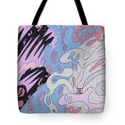 Explosion In Space Tote Bag