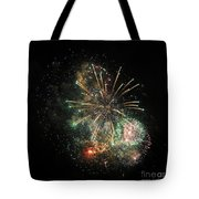 Explosion Of Color On Canada Day Tote Bag