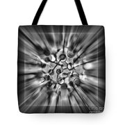 Explosive Abstract Black And White By Kaye Menner Tote Bag