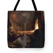 Expulsion. Moon And Firelight Tote Bag