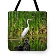 Exquisite Egret Tote Bag