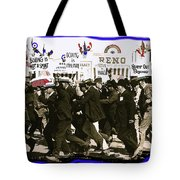 Extras Racing To The Boxing Arena The Great White Hope Set Globe Arizona 1969-2009 Tote Bag