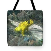 Extrude Yellow Frog Tote Bag