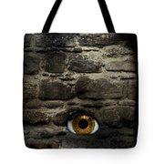 Eye In Brick Wall Tote Bag