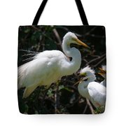 Eye Of The Egret Tote Bag