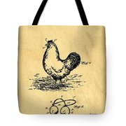 Eye Protector For Chickens Support Patent Drawing From 1903 1 Tote Bag