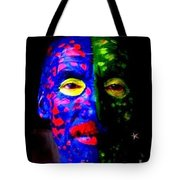 Eye See Colors Mardi Gras Hand Painted Face Tote Bag