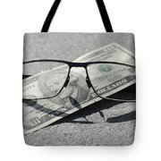 Eyeglasses And Money Tote Bag