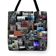 Eyes Down From The 103rd Floor Collage Tote Bag