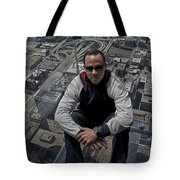 Eyes Down From The 103rd Floor Just Sitting Around Tote Bag