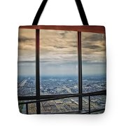 Eyes Down From The 103rd Floor Looking South Tote Bag