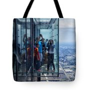 Eyes Down From The 103rd Floor Neighbors Tote Bag