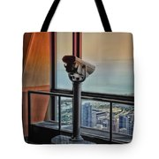 Eyes Down From The 103rd Floor Telescope Looking South Tote Bag
