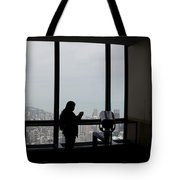 Eyes Down From The 103rd Floor Texting From The Top Of The World Tote Bag