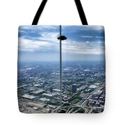 Eyes Down From The 103rd Floor The View From The Ledge Tote Bag