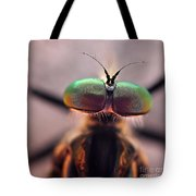 Eyes Of The Robber Fly Tote Bag