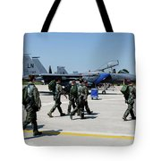 F-15 Pilots Of The 48th Fighter Wing Tote Bag
