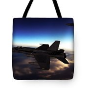 F-18 Super Hornets On Patrol Tote Bag