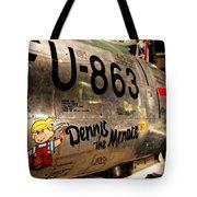F-86d Sabre Dennis The Menace Tote Bag