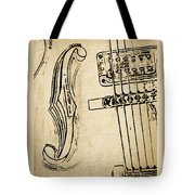 F Hole Line Drawing Tote Bag