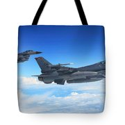 F16 Fighting Falcons Tote Bag