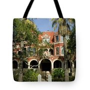 Facade Of A Museum, Moody Mansion Tote Bag