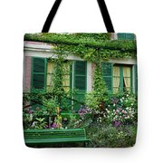 Facade Of Claude Monets House, Giverny Tote Bag