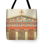 Facade Of The Temple Of Jupiter Tote Bag