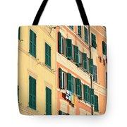 facades in Camogli Tote Bag