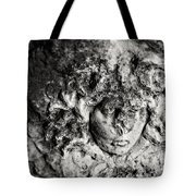 Face Carved In Stone Tote Bag