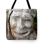 Face In A Tree Tote Bag