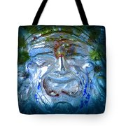 Face In Glass Tote Bag