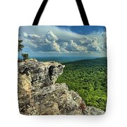 Face In The Cliff Tote Bag