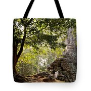 Face In The Forest 01 Tote Bag