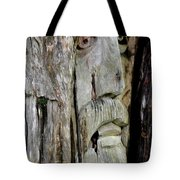Face In The Forest Tote Bag