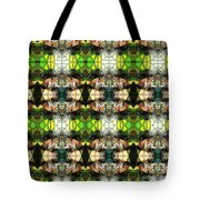 Face In The Stained Glass Tiled Tote Bag
