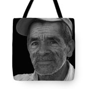 Face Of A Hardworking Man Tote Bag