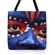 Face Of Carnival Tote Bag by Ian Cumming
