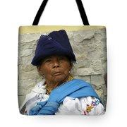 Face Of Ecuador Woman At Cotacachi Tote Bag
