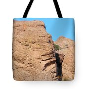 Face Of The Monolith Tote Bag