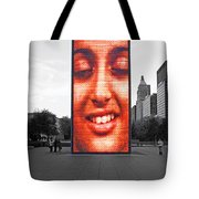 Face On Michigan Tote Bag